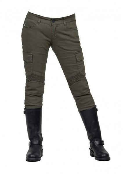 """uglyBROS Women's Jeans - """"Motorpool-GK"""" - olive"""