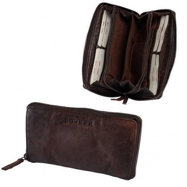 """ROKKER Wallet - """"Lady Wallet Big"""" - dark brown"""