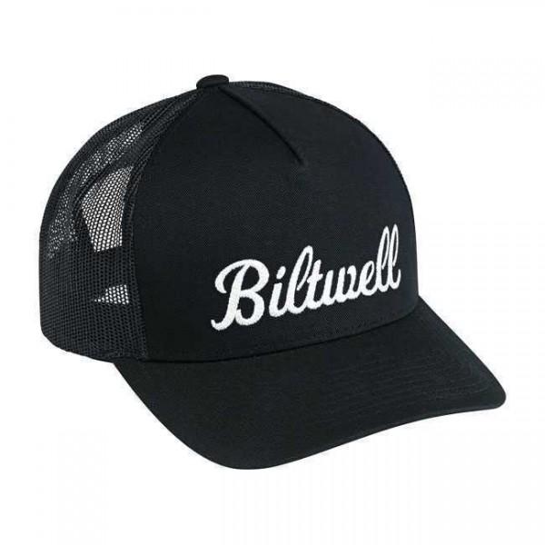 """BILTWELL Hat - """"Script Trucker"""" - black"""