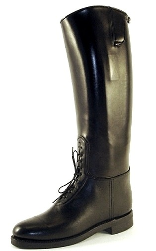 """DEHNER Patrol Boot - """"Bal-Laced"""" - custom made motorcycle boots black"""