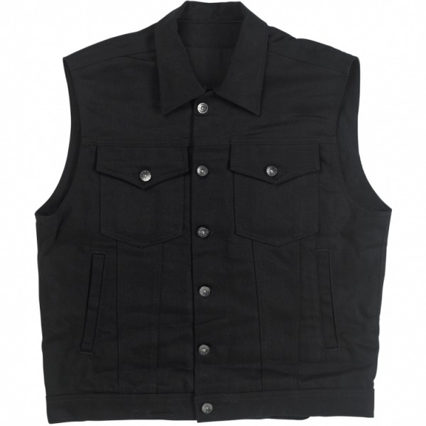 "BILTWELL Vest - ""Prime Cut Collared"" - black"
