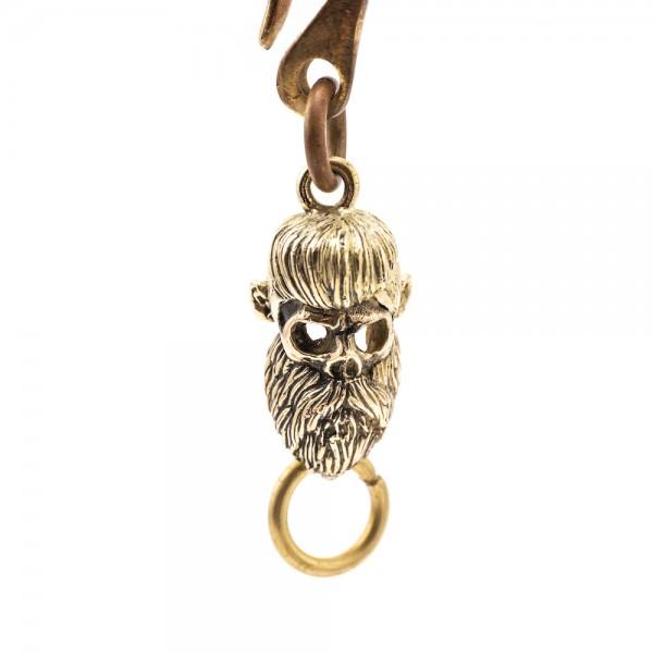 "SEVENTIES Keychain - ""Skull Beard Rockabilly"""