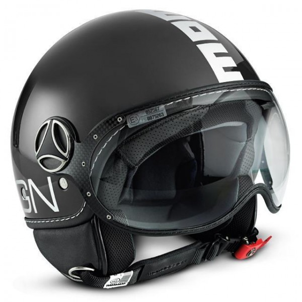 MOMO Helmet - FGTR Classic - shiny-anthracite-white - ECE