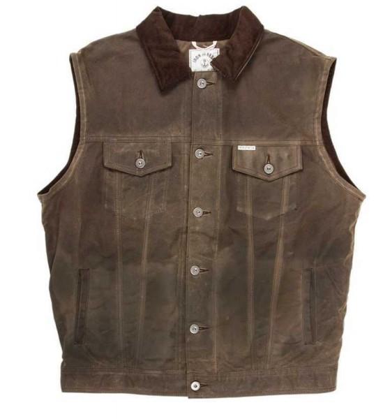 """IRON & RESIN Vest - """"Rambler"""" - oak-brown"""