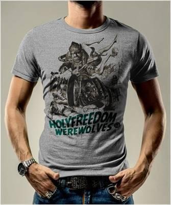 """HOLY FREEDOM T-Shirt - """"Wolf Grey"""" - grey"""