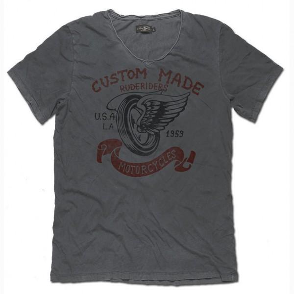 """RUDE RIDERS T-Shirt - """"Custom Made"""" - dark grey"""