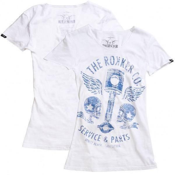 """ROKKER Women's T-Shirt - """"Flying Pistons"""" - white"""