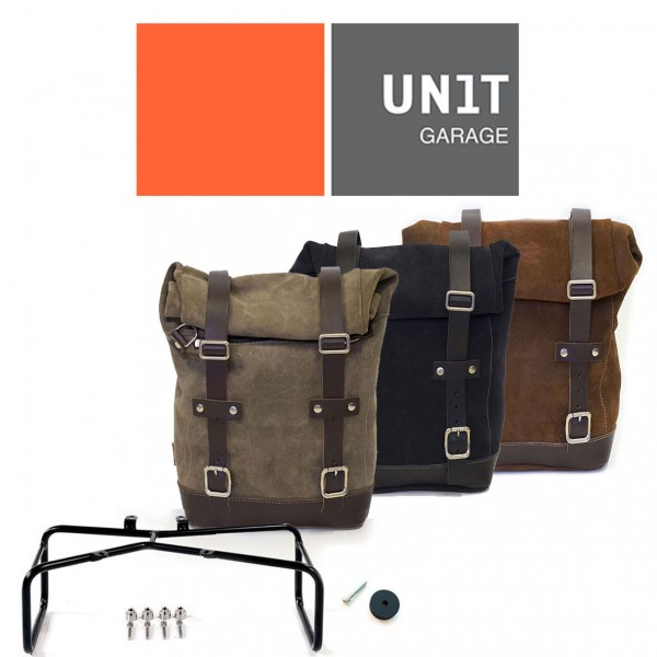 """UNITGARAGE - """"Waxed Suede Side Pannier + Double Subframe nineT"""" for BMW"""