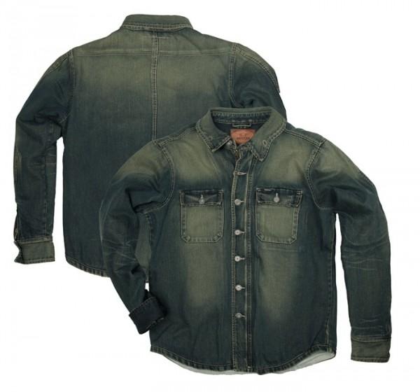 "ROKKER Riding Shirt - ""Denim Rider Shirt"" - washed"