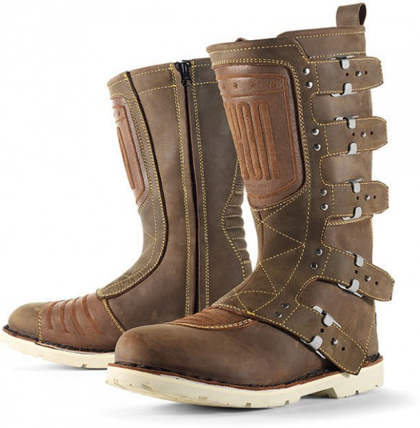 """ICON 1000 Motorcycle Boots - """"Elsinore"""" - brown"""