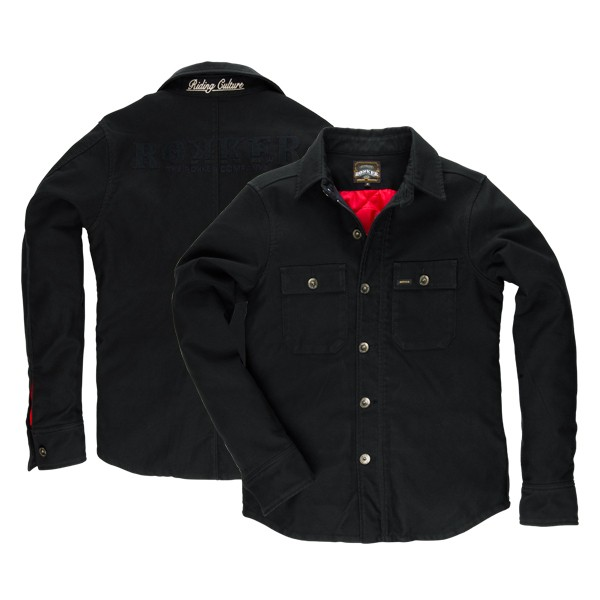 "ROKKER Shirt - ""Black Jack Rider Shirt Warm"" - black"