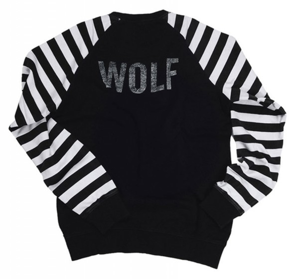 "EL SOLITARIO - ""Lone Wolf Racing Sweatshirt"" - black/white"