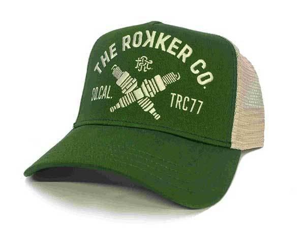 """ROKKER Hat - """"TRC77 Trukker"""" - green"""