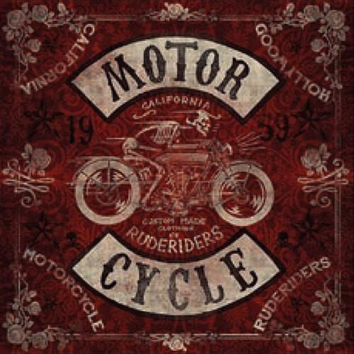 "RUDE RIDERS Scarf - ""Motor Cycle"" - 130 x 130 cm"