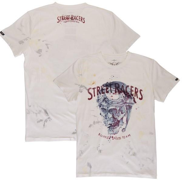 """ROKKER T-Shirt - """"Street Racers"""" - off-white"""