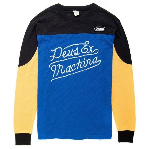 "DEUS EX MACHINA Men's Longsleeve - ""Deegan"" - black & yellow"