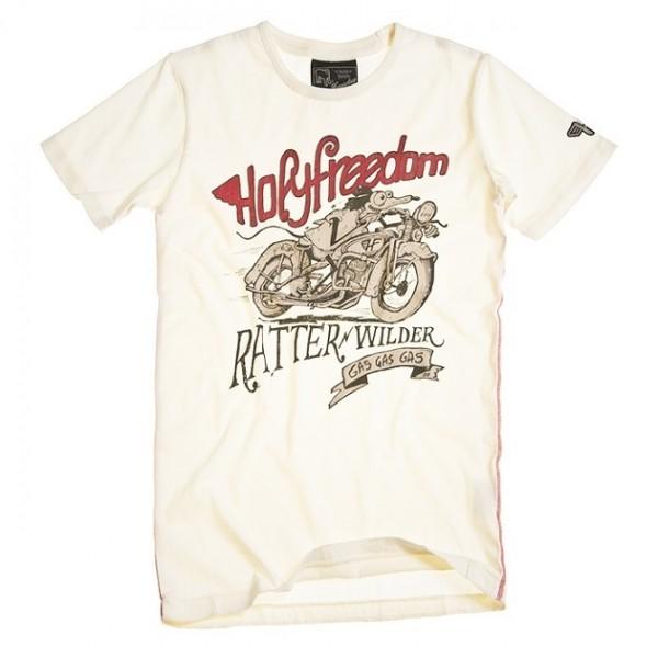 "HOLY FREEDOM T-Shirt - ""Ratter White"" - white"
