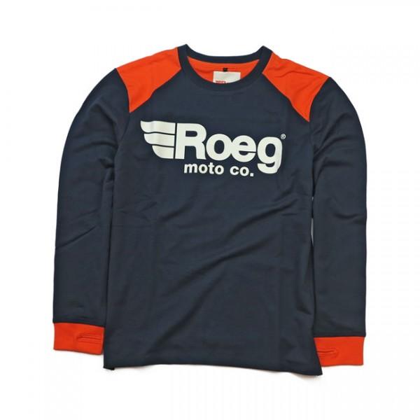 ROEG Longsleeve Ricky navy blue and orange