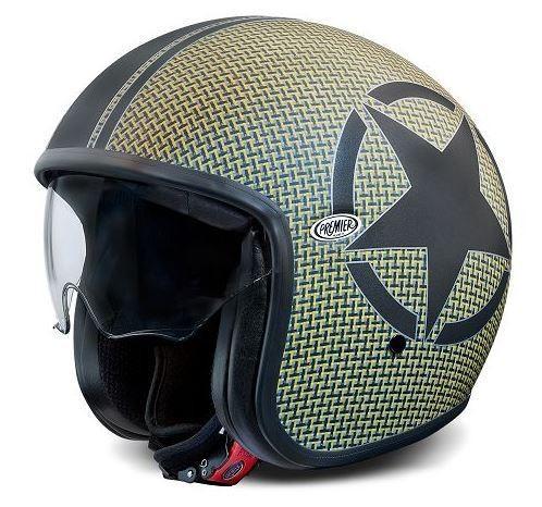 """PREMIER Vintage - """"Star Carbon Kevlar - Helmet - ECE"""