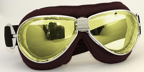 "NANNINI - ""TT"" - chrome, brown & yellow mirror"