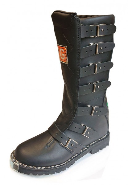 "RG ITALIA Motorcycle Boots - ""Regolarità Six Days"" - black"