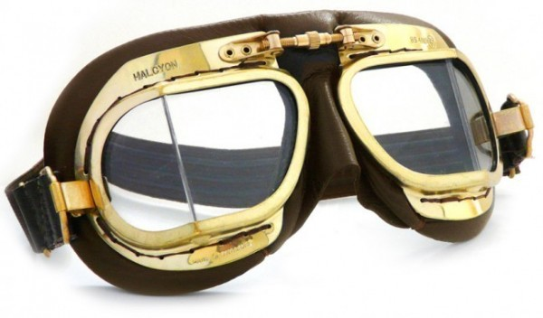 """HALCYON Goggles - """"Mark 49 Compact Antique"""" - brown"""