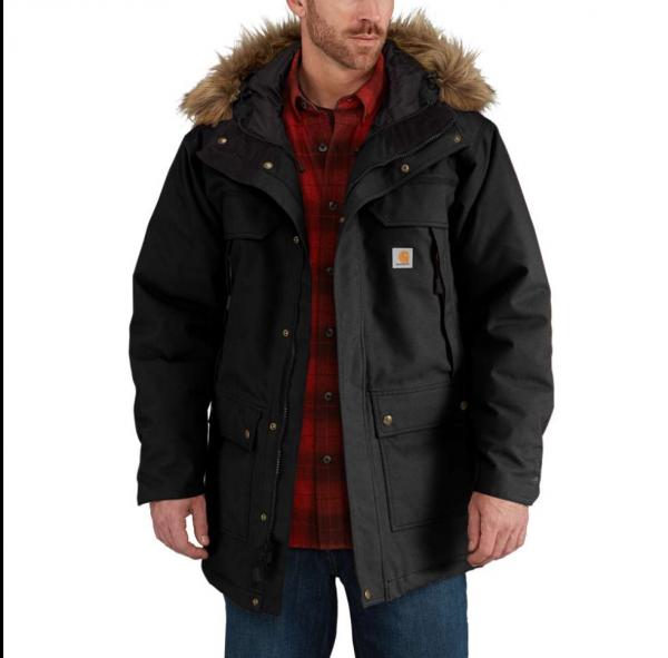 "CARHARTT Jacket - ""Quick Duck® Sawtooth Parka"" - waterproof, black"