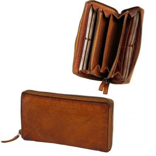 "ROKKER Wallet - ""Lady Wallet Big"" - cognac"