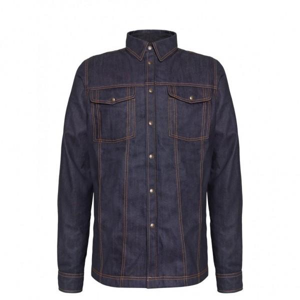 "JOHN DOE Shirt - ""Motoshirt Raw"" - raw denim blue"