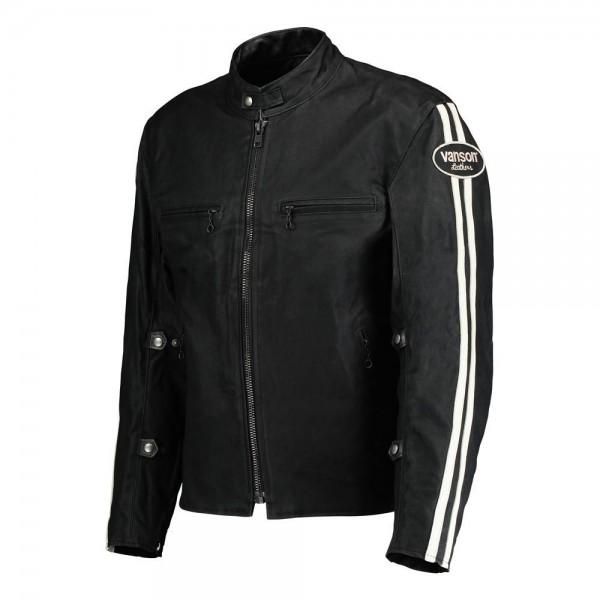 """VANSON Jacket - """"Road King"""" - black"""