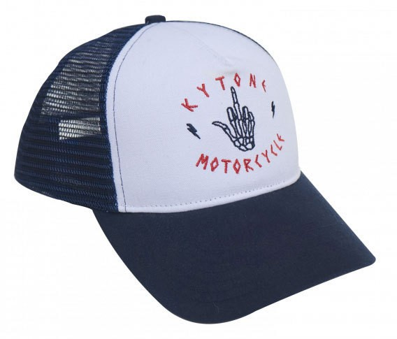 "KYTONE Hat - ""Up"" - white & blue"