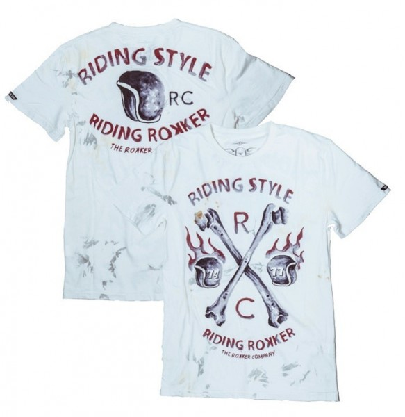 """ROKKER T-Shirt - """"Riding Style"""" - off-white"""