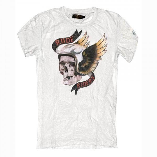"RUDE RIDERS T-Shirt - ""Dead Head"" - white"