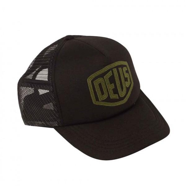 """DEUS EX MACHINA Cap - """"Raised Shield Trucker"""" - black"""